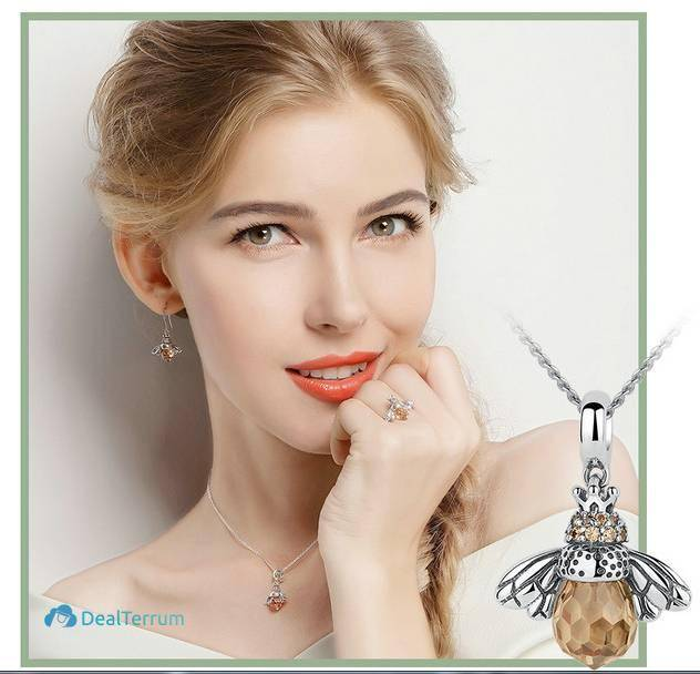 Women's Cute Dancing Bee Necklace Necklaces Women Jewelry