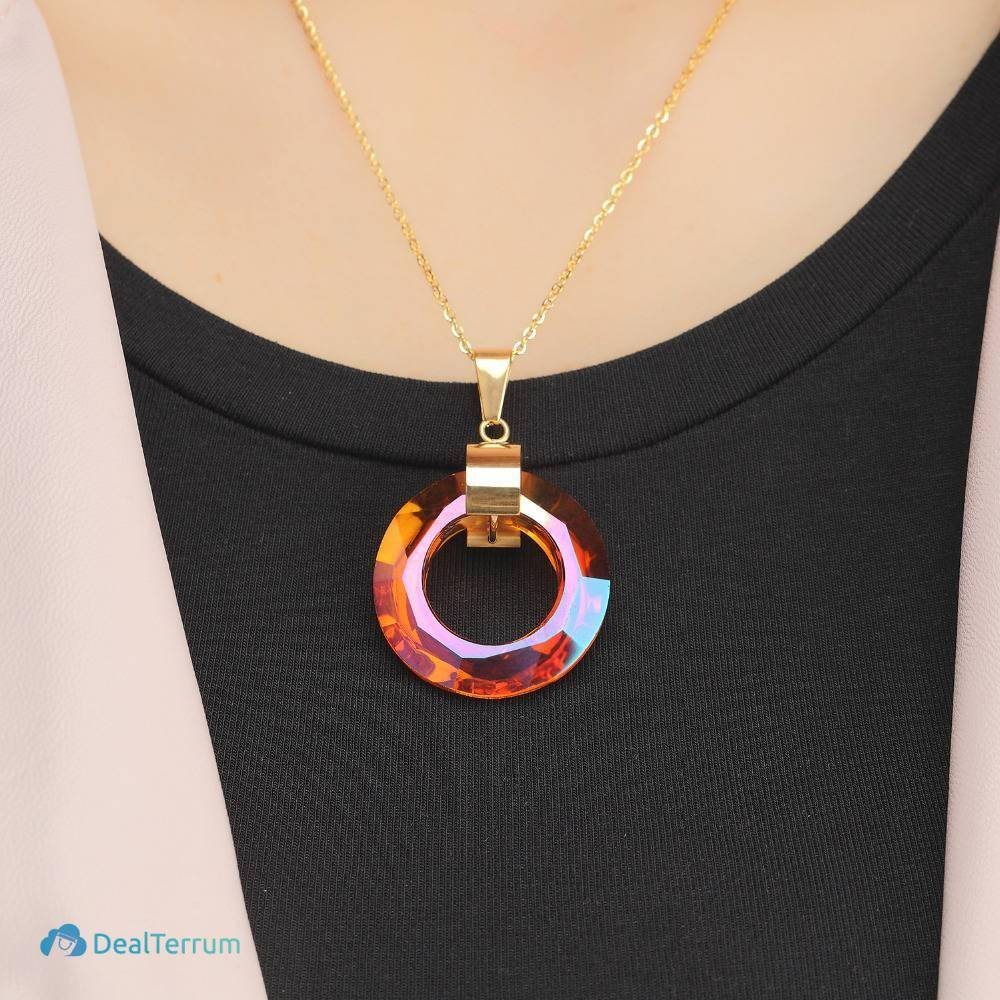 Women's Opal Ring Necklace Necklaces Women Jewelry